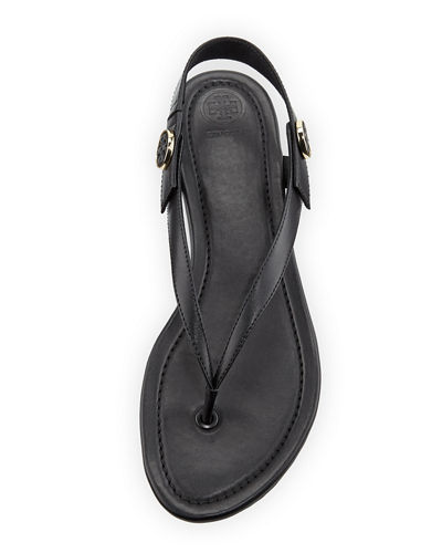 Minnie Leather Flat Travel Sandal