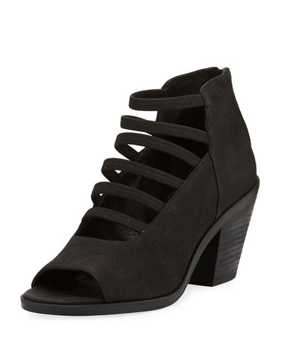 James Open Toe Stretch-Strap Bootie