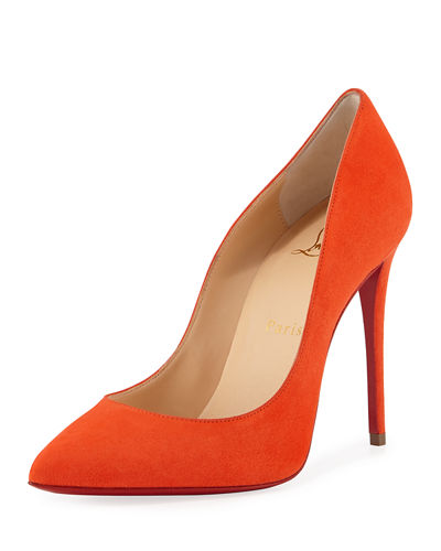 Pigalle Follies Suede Point-Toe Red Sole Pump