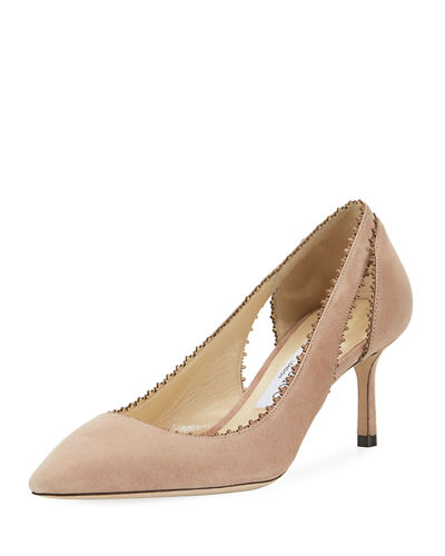 Jimmy Choo Diva Suede Cutout 60mm Pump
