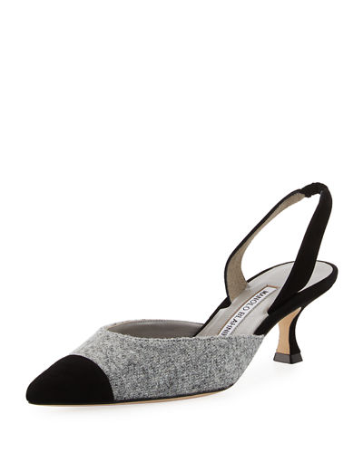 Carolyn Tweed Low-Heel Halter Pump