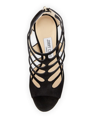 Ren Suede Caged 100mm Sandal