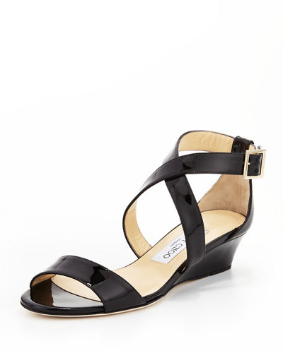 Chiara Demi-Wedge Crisscross Sandal