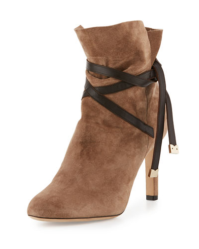 Dalal Suede Ankle-Wrap Boot