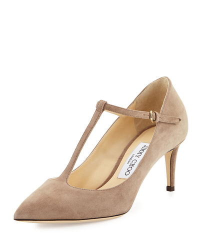 Daria Suede T-Strap 65mm Pump