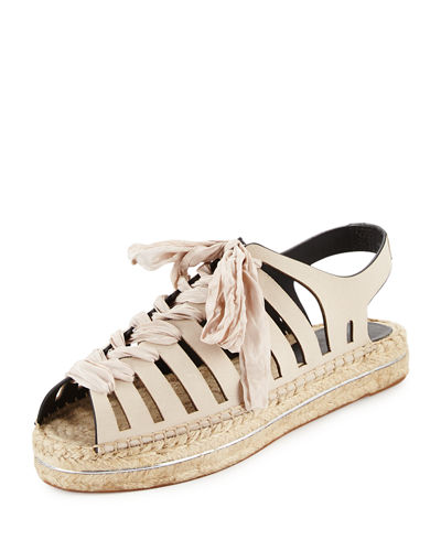 Gemma Leather Espadrille Sandal
