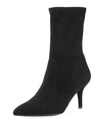 Cling Glove Suede Ankle Boot