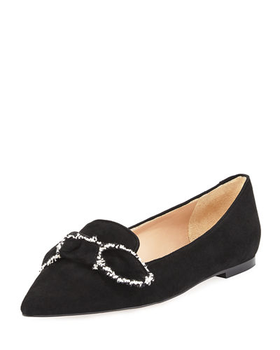 Rochester Pointed-Toe Loafer Flat with Bow