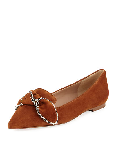 Sam Edelman Rochester Pointed-Toe Loafer Flat with Bow