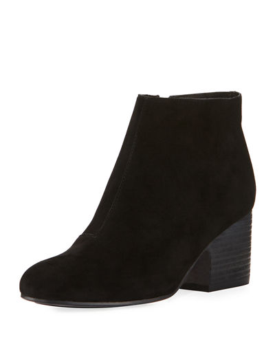 Miller Suede Zip Dress Bootie