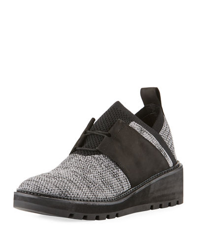 Eileen Fisher Wilson Lace-Up Knit Wedge Shoe