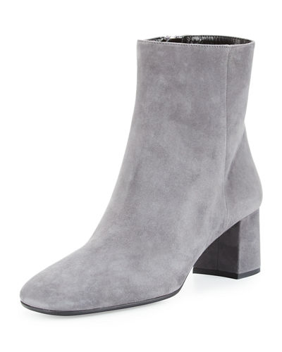 Suede Square-Toe 55mm Ankle Boot