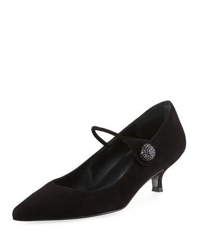 Playball Suede Mary Jane Pump