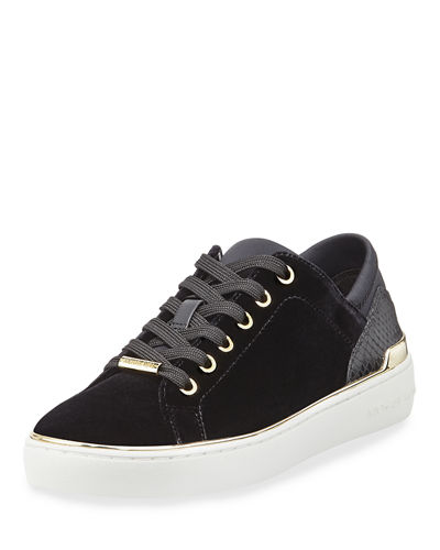 Scout Lace-Up Velvet Sneaker