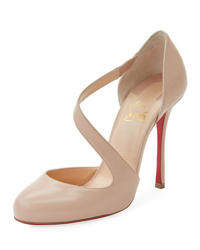 Decalcoco Asymmetric Red Sole Pump