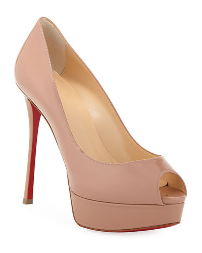 Fetish Peep-Toe Platform Red Sole Pump