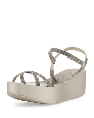 Natalia Crystal Wedge Sandal