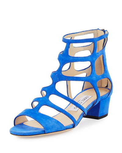 Ren Suede Caged 35mm Sandal