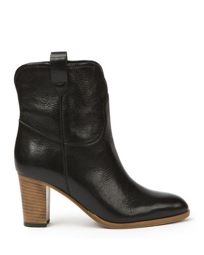 June Antiqued Short Ankle Boot