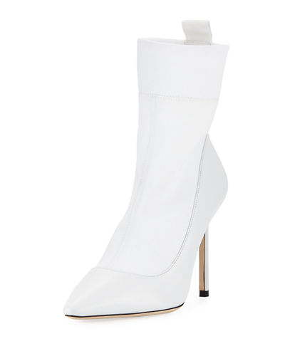 Brandon IWANTCHOO Stretch Fabric/Leather Bootie