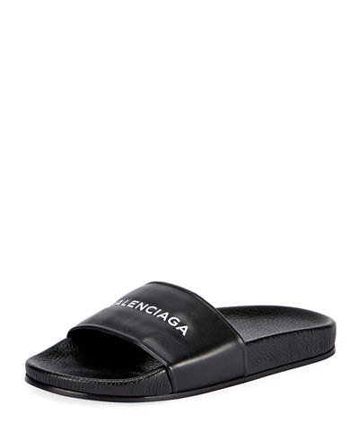 Logo Leather slides Balenciaga XO4jb