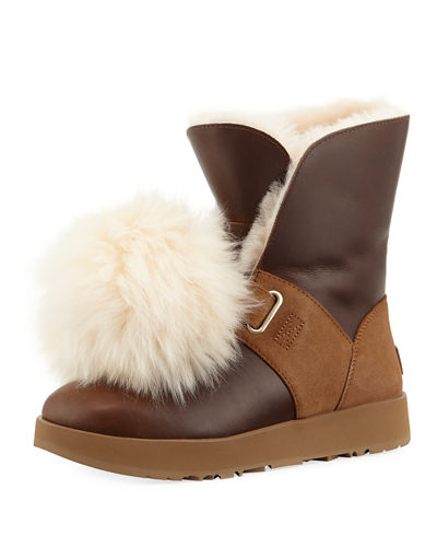Isley Pompom Water-Resistant Boot