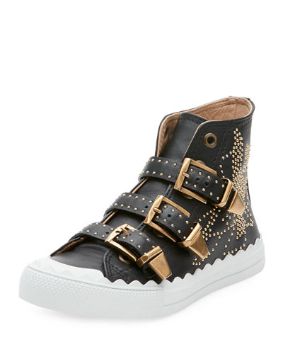 Kyle Studded High-Top Leather Sneaker