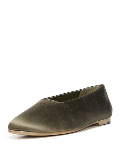 Maxwell High-Cut Satin Flat
