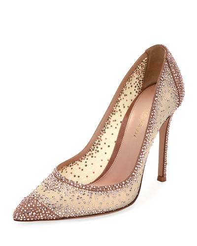 Gianvito Rossi Rania Crystal Illusion 105mm Pump