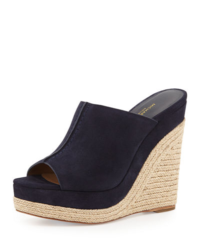 Charlize Suede Wedge Slide Sandal