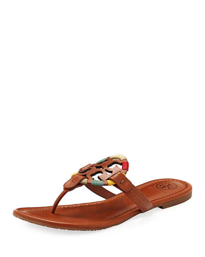 Miller Flat Embroidered Medallion Sandal