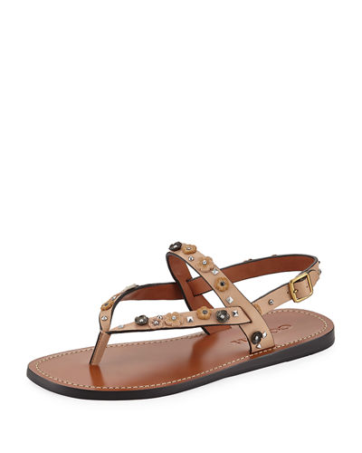 Hudson Tea Rose Flat Thong Sandal