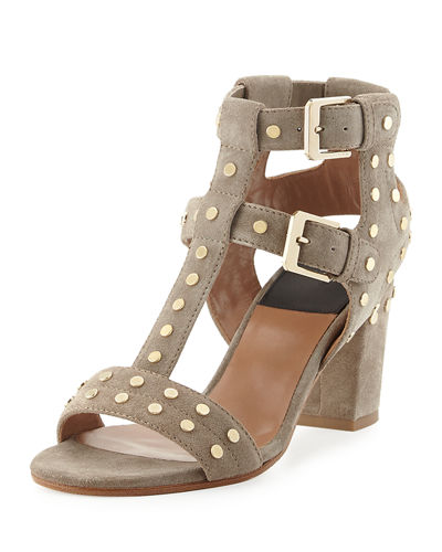 Helie Studded Suede Caged Sandal