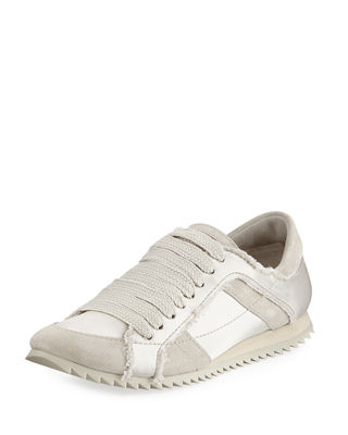 Cristina Satin Lace Up Trainer Sneaker by Pedro Garcia