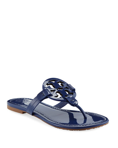 1c043fd51 Tory Burch Miller Medallion Patent Leather Flat Thong Sandals