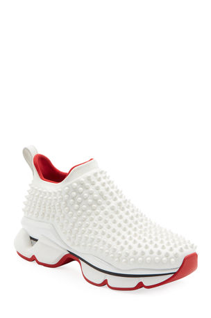 Christian Louboutin Spike Sock Donna Red Sole Sneakers