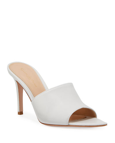 94d046e205f50 Gianvito Rossi Strappy Flat Metallic Leather Slide Sandal from ...
