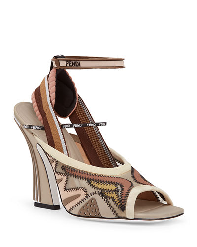 c55331bea880 Fendi Freedom Patchwork Sandals from Neiman Marcus - Styhunt