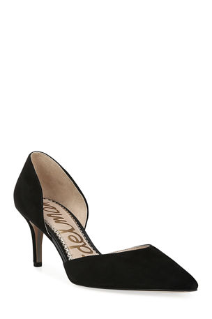 Sam Edelman Jaina Suede Point-Toe Pumps