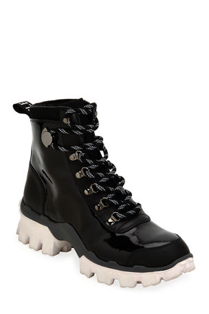 Moncler Helis Stivale Leather Lace-Up Hiking Boots