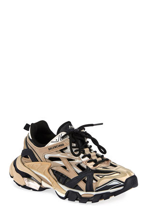 Balenciaga Track 2 Open Metallic Sneakers