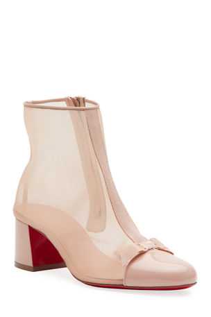 Christian Louboutin Checkypoint Booty 55 Red Sole Booties