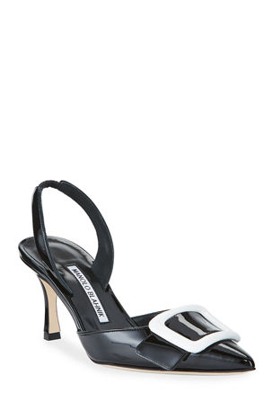 Manolo Blahnik May Patent Slingback Pumps