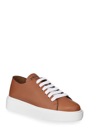 Prada Leather Flatform Sneakers