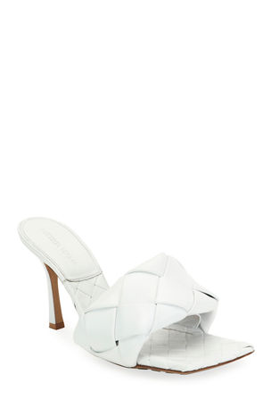 Bottega Veneta Puffy Intreccio Square Mules