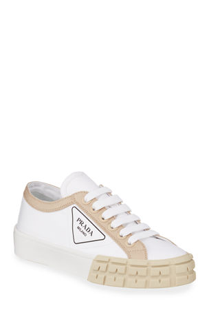 Prada Low-Top Chunky Sneakers with Triangle Logo