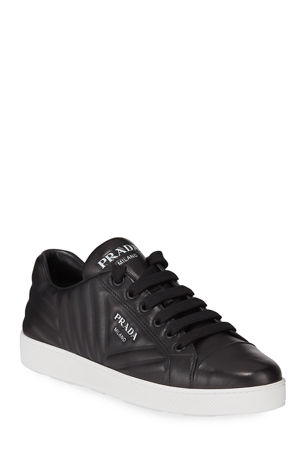 Prada Quilted Leather Logo Sneakers