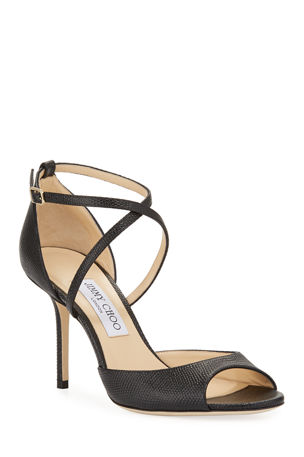 Jimmy Choo Emsy 85mm Lizard-Print Sandals