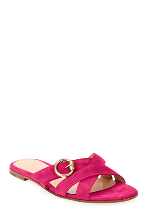 Gianvito Rossi Crisscross Buckle Sandals