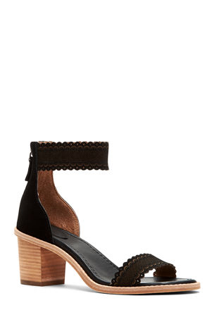 Frye Brielle Scallop Back-Zip Sandals